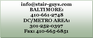 Text Box: info@stair-guys.com